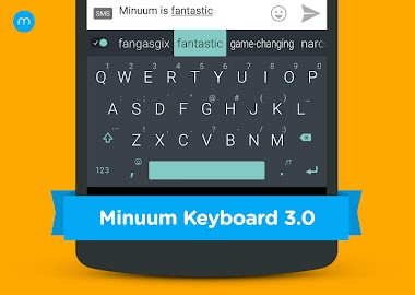 Minuum Keyboard Free + Emoji Screenshot 1