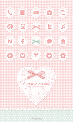 Love is sweet icon Theme