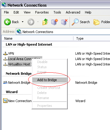 How To Setup Bridge Networking for Virtualbox in Windows
