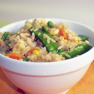Fried Brown Rice And Vegetables.