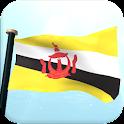 ブルネイ·ダルサラーム国フラグ3Dライブ壁紙 icon