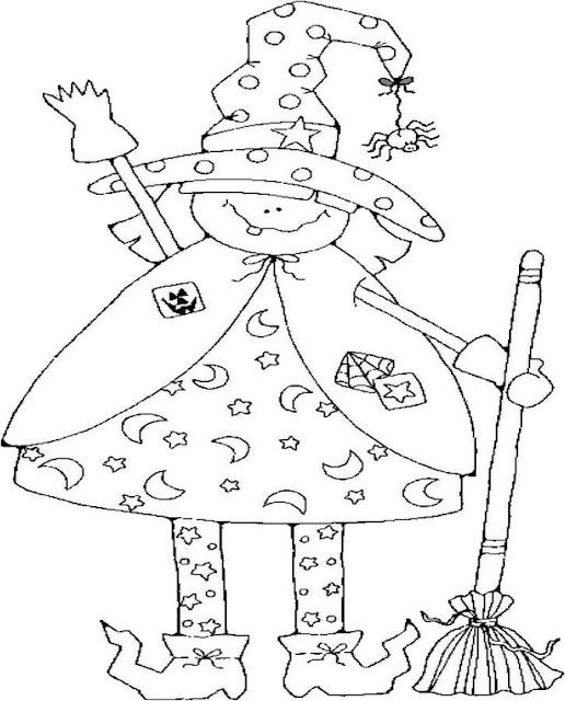 Dibujos Infantiles De Brujas Para Colorear