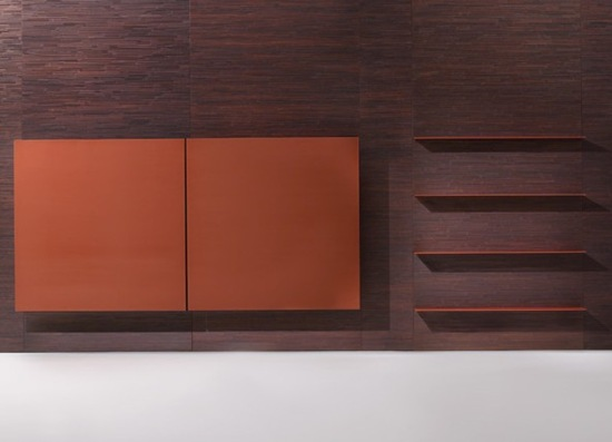 Laura Meroni 2 brushed lacquered wood