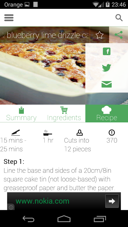 100 cakes & bakes recipes- screenshot