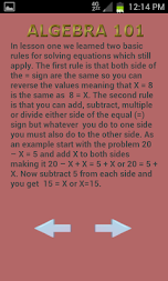 Algebra 102 APK screenshot thumbnail 2