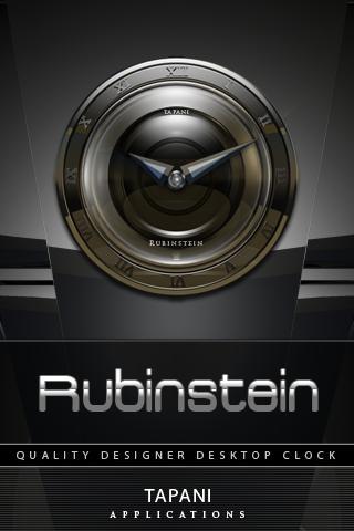 RUBINSTEIN alarm CLOCK widget