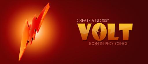 Create A Glossy Volt Icon