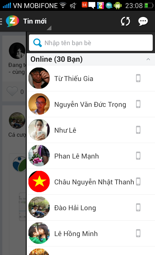 Zing Me 2 - tim ban moi - chat - screenshot