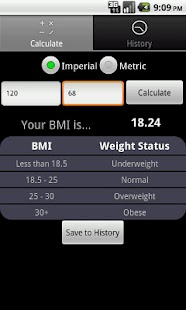 BMI FYI Calculator - screenshot thumbnail