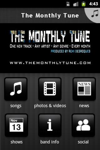 The Monthly Tune - screenshot