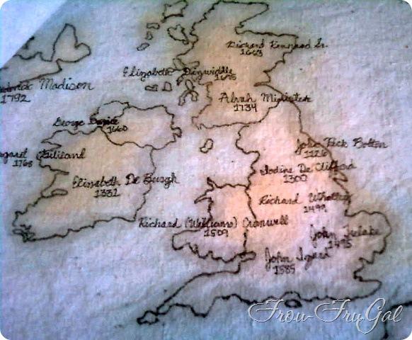Drop Cloth Fabric - Map of British Isles