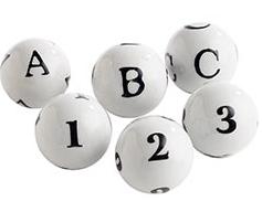 Pier 1 Typography Spheres