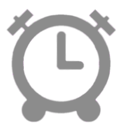 Alarm Clock WHEEL LIST am pm icon