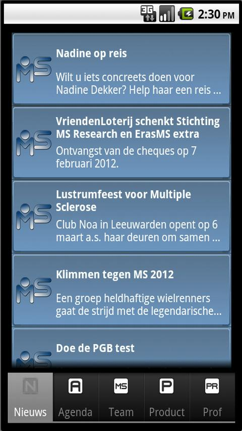 MS App - Multiple Sclerose - screenshot