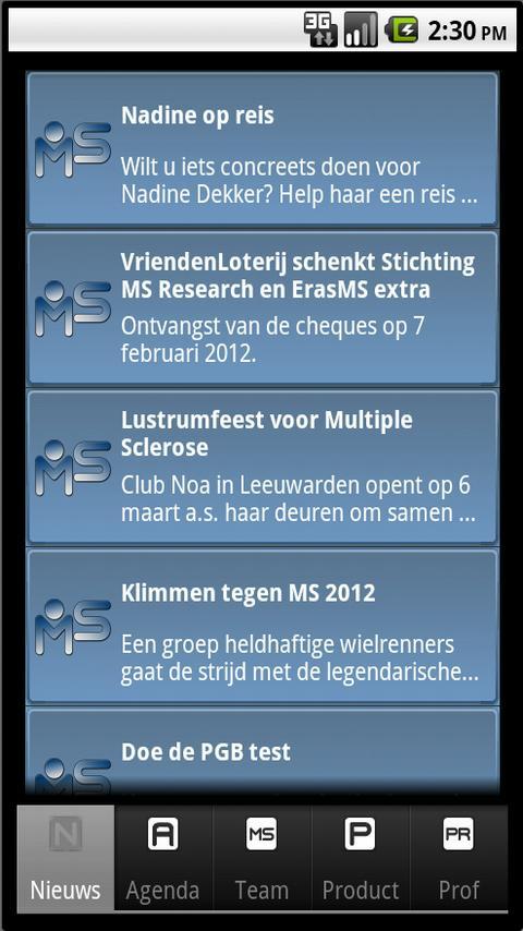 MS App - Multiple Sclerose - screenshot