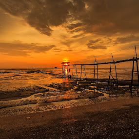 Colour of sunset I by Jali Razali - Landscapes Sunsets & Sunrises ( , silhouette )