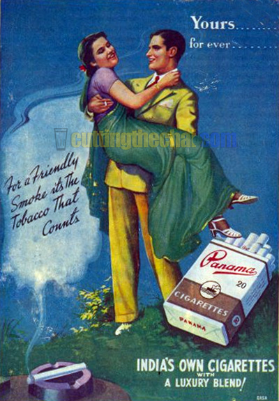 Panama Cigarettes advertisement from 1945