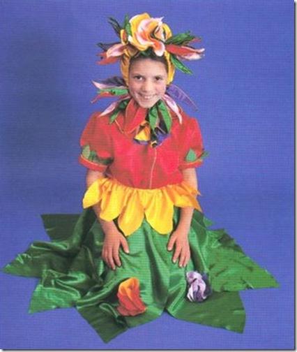 Ideas disfraz de flor con patrones