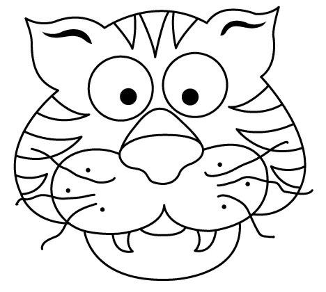Máscara de tigre para imprimir y pintar