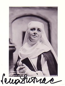Austrian/Croatian soprano Sena Jurinac as Suor Angelica at La Scala