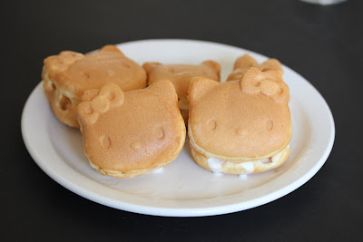 Hello Kitty Ice Cream Waffle Sandwiches