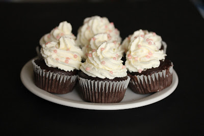 photo of a plate of chocolate cupcakes