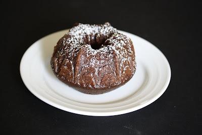 close-up photo of a mini bundt cake