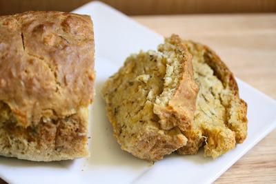 Rosemary cheese beer bread