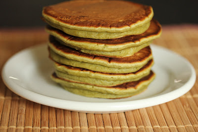 photo of a stack of pancakes on a plate
