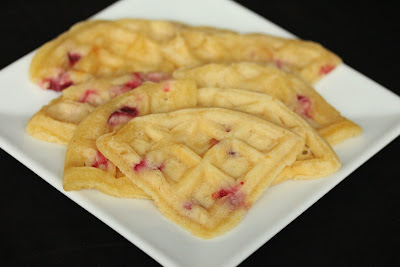 photo of slices of waffles on a plate