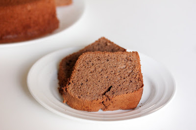 photo of two slices of Chocolate Sponge Cake on a plate