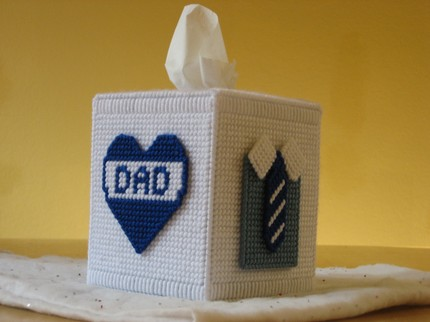 photo of dad tissue box cover
