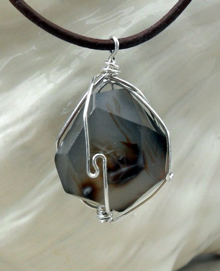 photo of chalcedony nugget pendant necklace