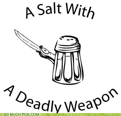 photo of a salt shaker carrying a deadly weapon