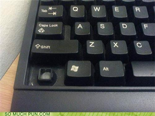 photo of a keyboard missing the control key