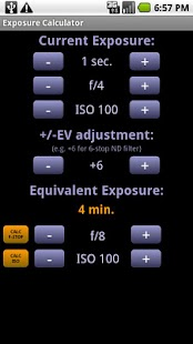 Exposure Calculator - screenshot thumbnail