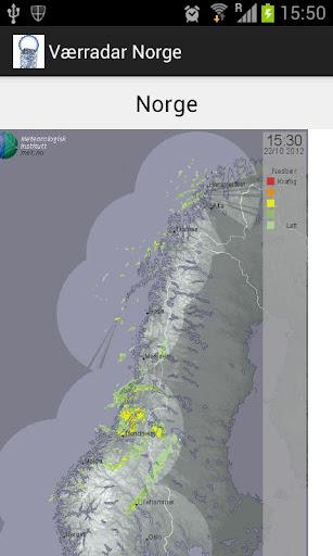 Værradar Norge