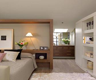 Decoración-interiorismo-espacios-integrado baño-dormitorio