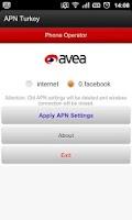 Screenshot of APN Turkey