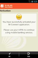 Screenshot of Bank of Baroda M-Connect