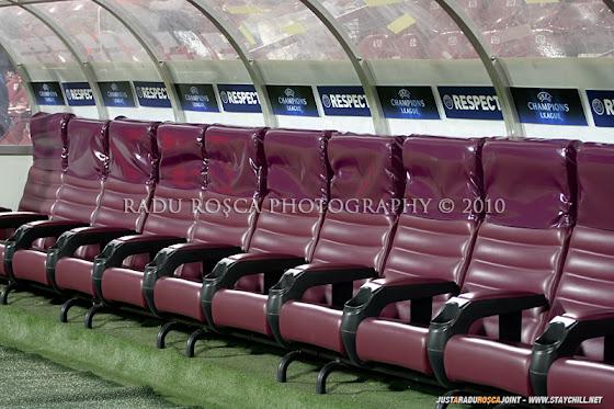 UEFA Champions League 2010/11. CFR Cluj - FC Basel 2-1 // Băncile de rezerve