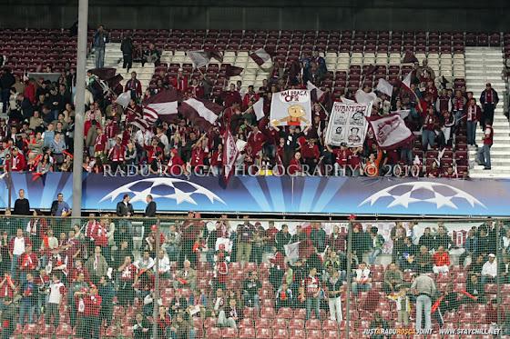 UEFA Champions League 2010/11. CFR Cluj - FC Basel 2-1 // Suporterii CFR
