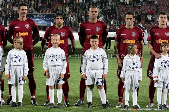UEFA Champions League 2010/11. CFR Cluj - FC Basel 2-1 // Se intonează imnul UCL