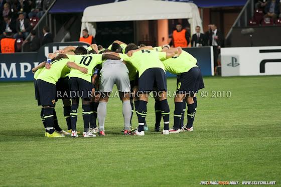 UEFA Champions League 2010/11. CFR Cluj - FC Basel 2-1 // Elveţienii se motivează înainte de startul partidei