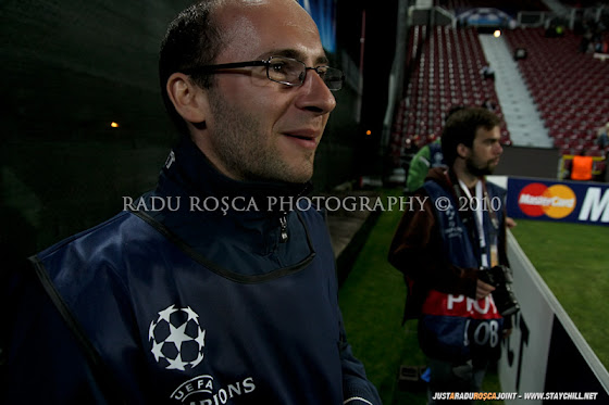 UEFA Champions League 2010/11. CFR Cluj - FC Basel 2-1 // Ionuţ era foarte agitat pe margine, însă scorul îl avantaja