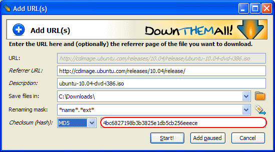 Random Stuff: Verify your downloads with checksums