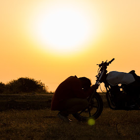 me my machine...my life by Kiran Ark - Novices Only Sports ( bike, dream, sunset, flare, people )