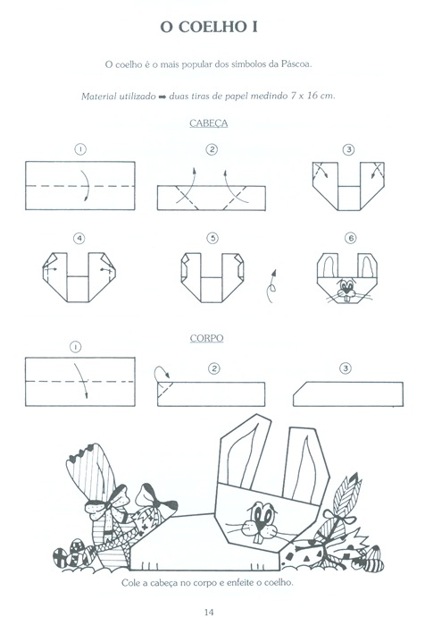 papiroflexia  conejo de pascua
