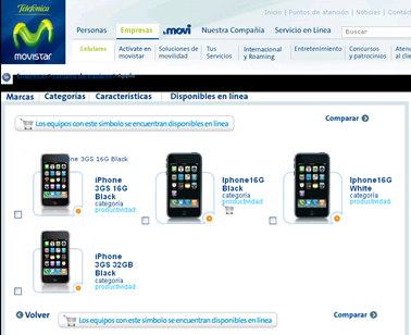 Movistar Colombia - Empresas - compra de equipos - marca - Apple