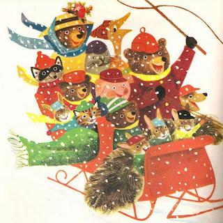 Resultado de imagen de books christmas illustration